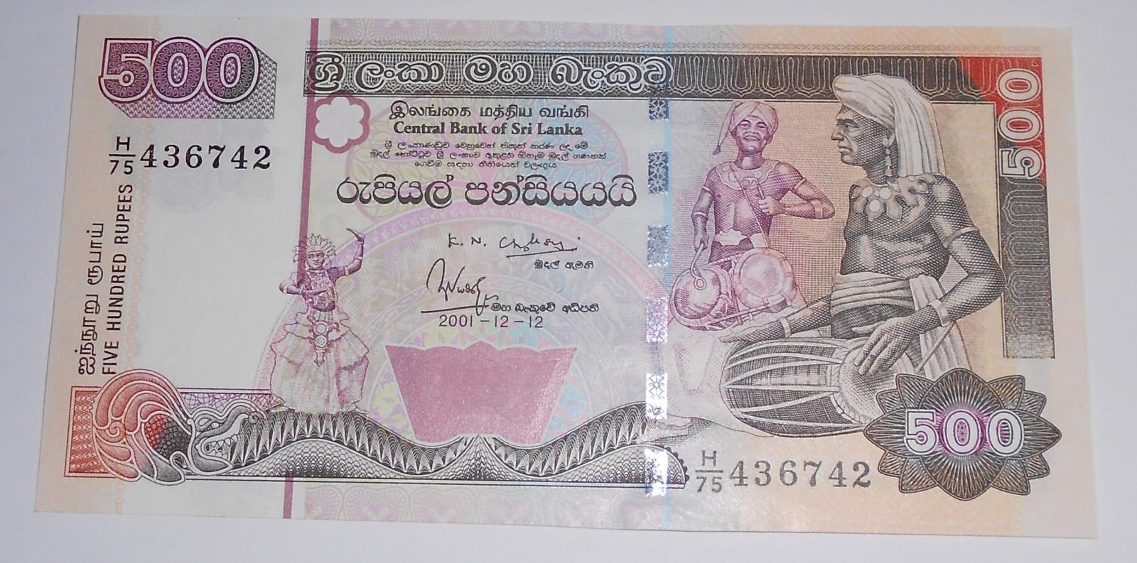 Srí Lanka 500 Rupie 2001