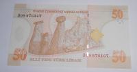 Turecko 50 Lirasi 2005