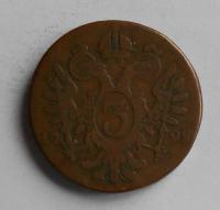 Uhry 3 Krejcar 1799 B František II., varianta tlustý střižek