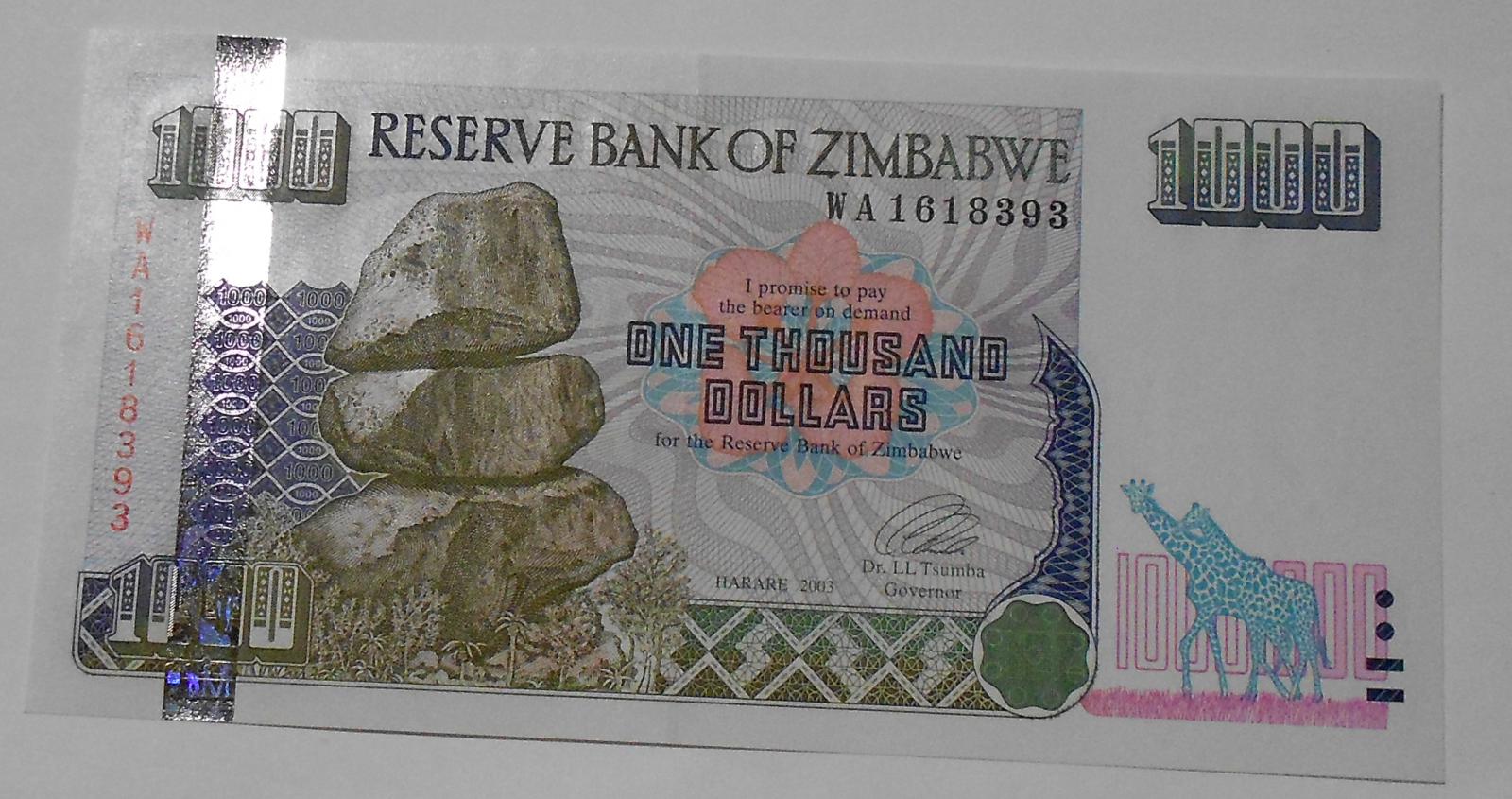 Zimbabve 1000, 2003