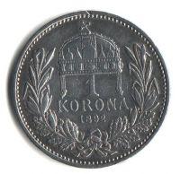 1 Koruna(1892), stav 1+/1+ hr., ražba KB