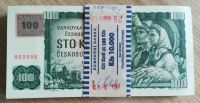 100Kč/1961-93, kolek ČR/, stav UNC, série G, originální balíček Komerční banky, 100 ks!