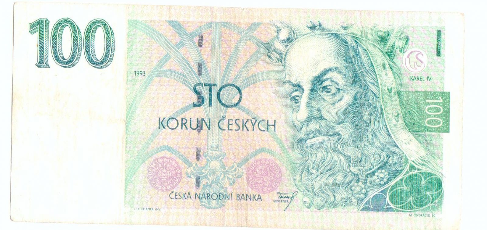 100Kč/1993/, stav 3-, vzácná série Z 01