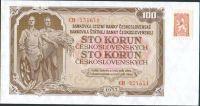 100Kčs/1953-kolek tzv. Kubánské krize/, stav UNC, tisk GOZNAK Moskva