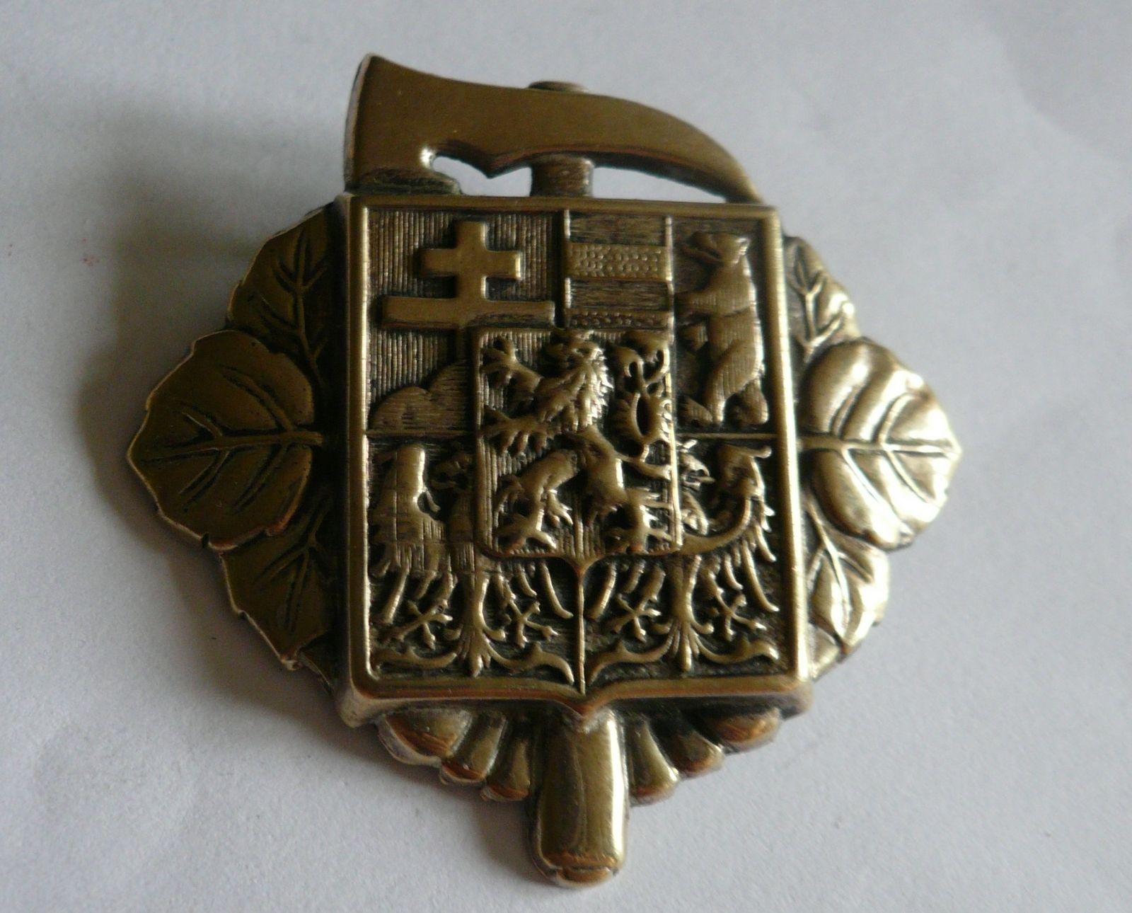 Hasiči, čepicový odznak, ČSR