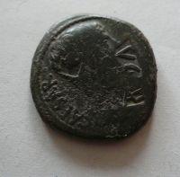 AE-26, kontramarka, Tiberius, TI.CAE.AVG, Řím-kolonie, 14-37