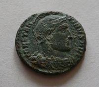 AE-3, Constantinus I.,, 2 vojáci+standarta, S:3.785,Řím-císařství, 307-37
