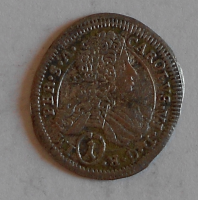 Čechy – Kutná Hora 1 Krejcar 1713 Karel VI.