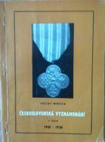 Československá vyznamenání I. část 1918-1938, V. Měřička