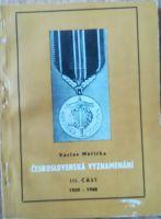 Československá vyznamenání III. část 1939-1948, V. Měřička