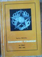 Československá vyznamenání IV. část 1945-1975, V. Měřička