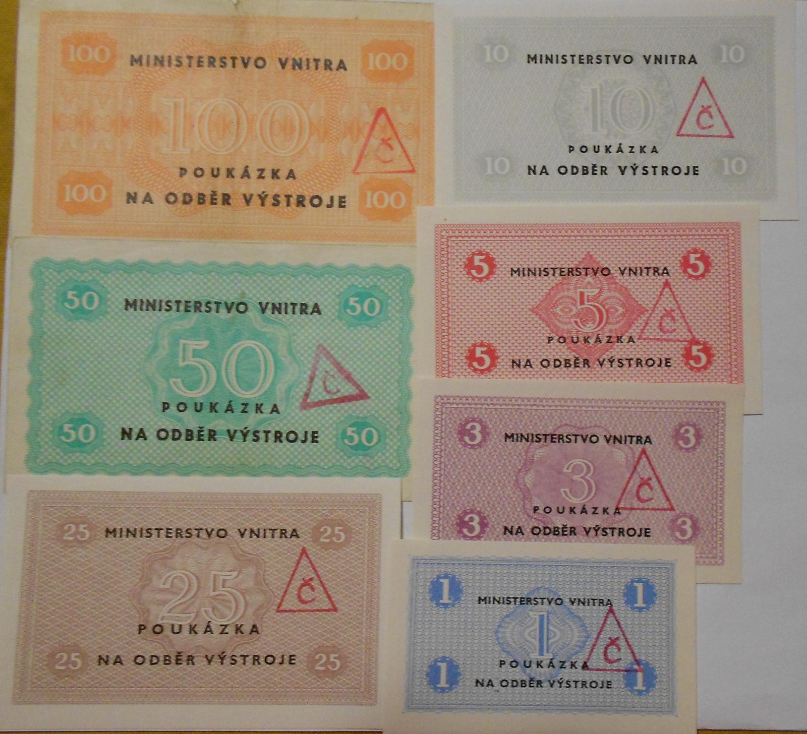 ČR Sada výstrojních poukázek 7 kusů