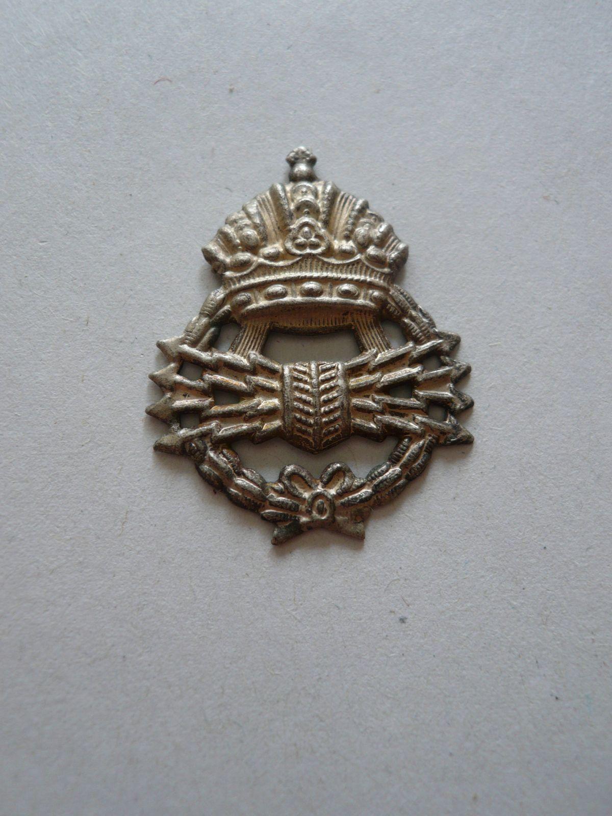 Plechová nášivka, Vojenský spojař, Rakousko-Uhersko