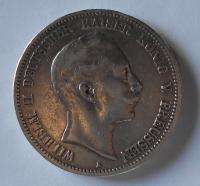 Prusko 5 Marka 1893 A Vilém II.