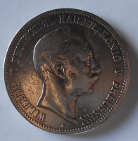 Prusko 5 Marka 1894 A Vilém II.