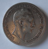 Prusko 5 Marka 1895 A Vilém II.