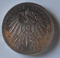 Würtenberg 5 Marka 1895 F Wilhelm II.