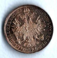 1 Zlatník/Gulden (1858-ražba A), stav 1+/1+ patina, dr.hr.