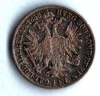 1 Zlatník/Gulden (1858-ražba B), stav 2/2
