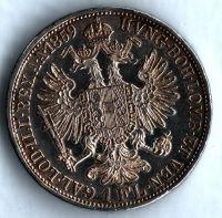 1 Zlatník/Gulden (1859-ražba A), stav 1+/1+ dr.hr., bez tečky za REX