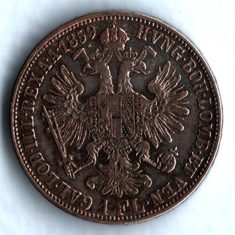 1 Zlatník/Gulden (1859-ražba M), stav 1-/1