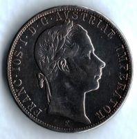 1 Zlatník/Gulden (1860-ražba E), stav 1-/1 dr.hr.