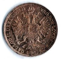 1 Zlatník/Gulden (1861-ražba A), stav 1/1+ dr.hr.