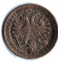 1 Zlatník/Gulden (1861-ražba B), stav 2/1-