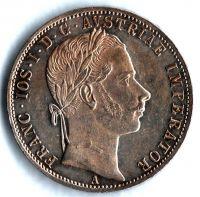 1 Zlatník/Gulden (1862-ražba A), stav 1+/1+ patina, dr. hr.