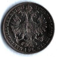 1 Zlatník/Gulden (1862-ražba V), stav 1-/1- dr.hr.