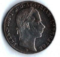 1 Zlatník/Gulden (1863-ražba B), stav 2+/1- hr.