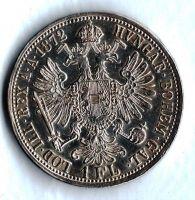 1 Zlatník/Gulden (1872-ražba bz), stav 0/0 dr. hr.