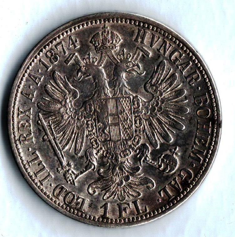 1 Zlatník/Gulden (1874-ražba bz), stav 1/1