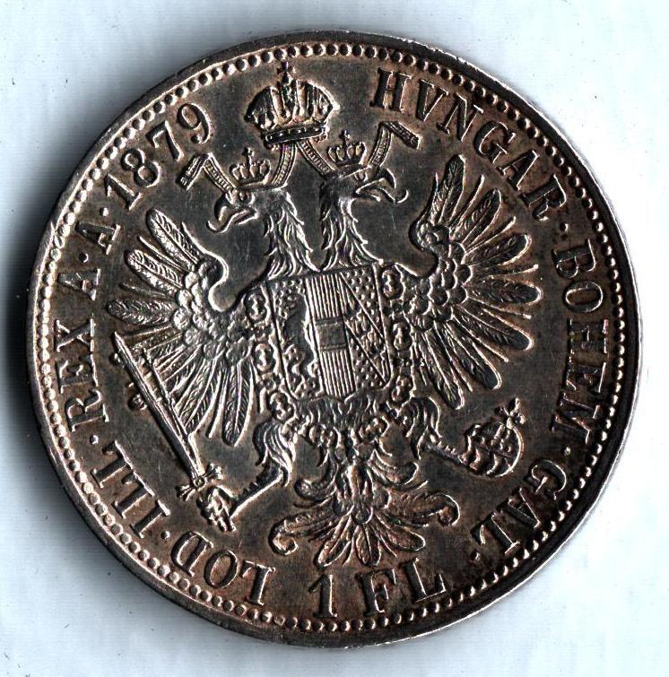 1 Zlatník/Gulden (1879-ražba bz), stav 1+/1+