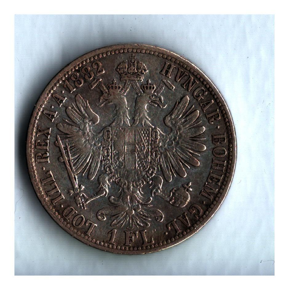 1 Zlatník/Gulden (1882-ražba bz), stav 1+/1+ dr.hr.