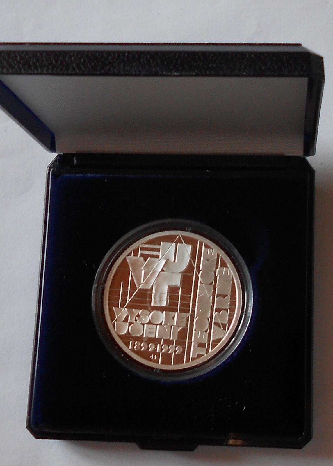 200 Kč(1999 VUT Brno), stav PROOF, etue a certifikát