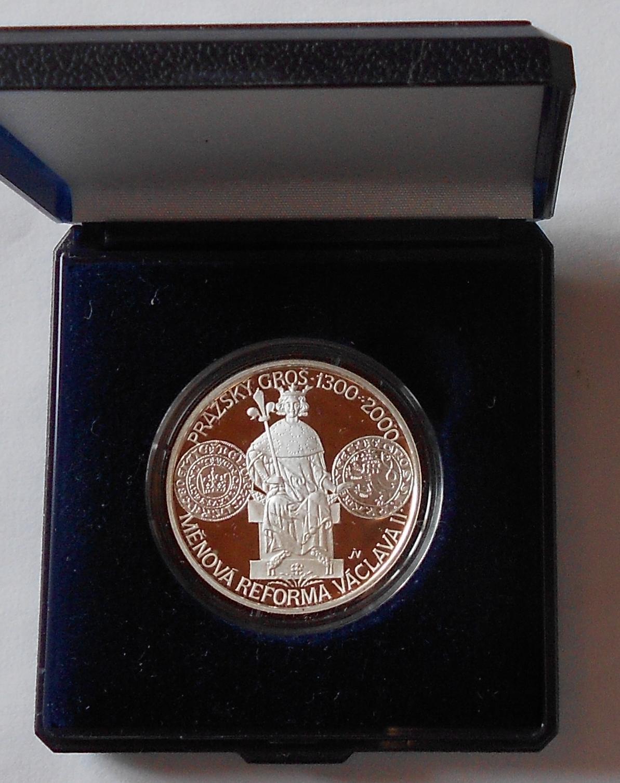 200 Kč(2000 Měnová reforma Václava II.), stav PROOF, etue a certifikát