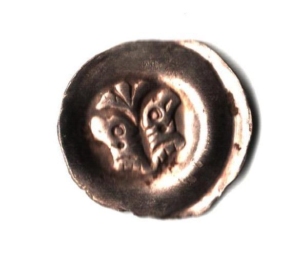 Brakteát Přemysl Otakar II., C 951, 0,37g, stav 1+/1+ velmi pěkný