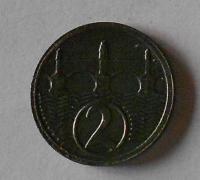 ČSR 2 Haléř 1924 stav