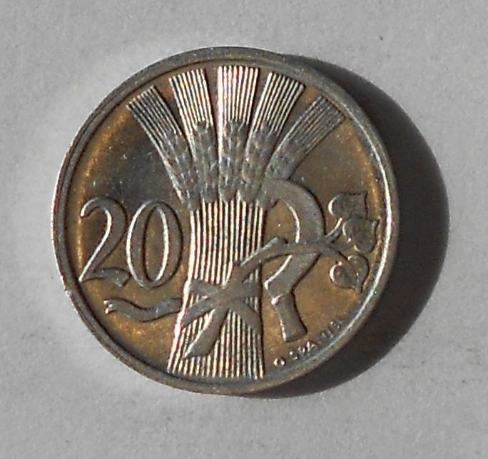 ČSR 20 Haléř 1952 stav
