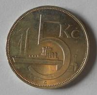 ČSR 5 Kč 1929 stav