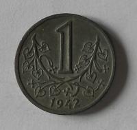 P-Č+M 1 Koruna 1942 stav