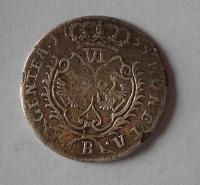 Prusko 6 Krejcar 1755 Fridrich