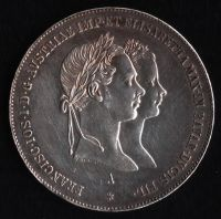 Půltolar - Zlatník (1854-ražba A), stav 1+1+ patina, dr.hr.