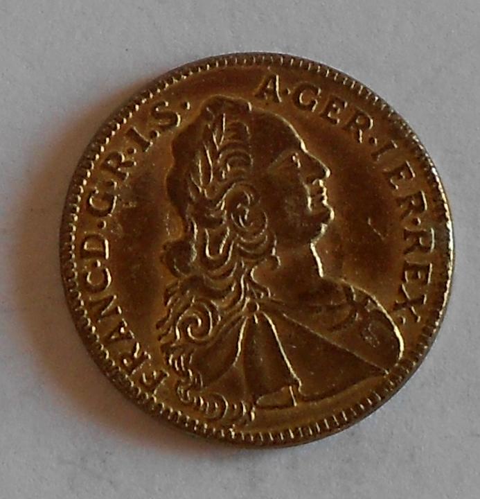 Rakousko Dukát (obecný kov) 1752 CA František Lotrinský, novoražba