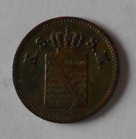 Sasko 1 Pfenik 1852 F