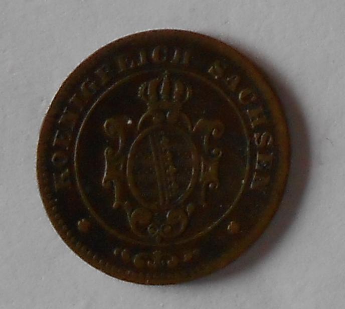 Sasko 1 Pfenik 1863 B