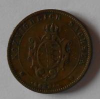 Sasko 5 Pfenik 1864 B