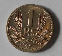 Slovenský štát 1 Koruna 1945 stav