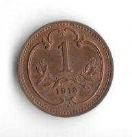 1 Haléř(1910-ražba bz), stav 0/0